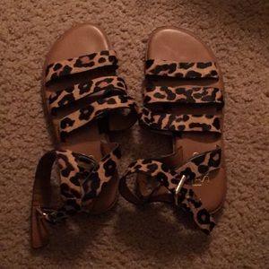 Franco Sarto Leopard Sandals